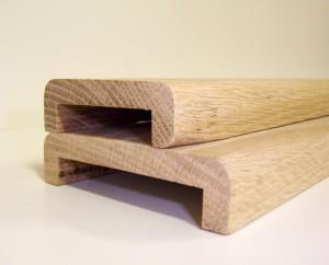 Nez de cloison en chêne massif pour placoplatre